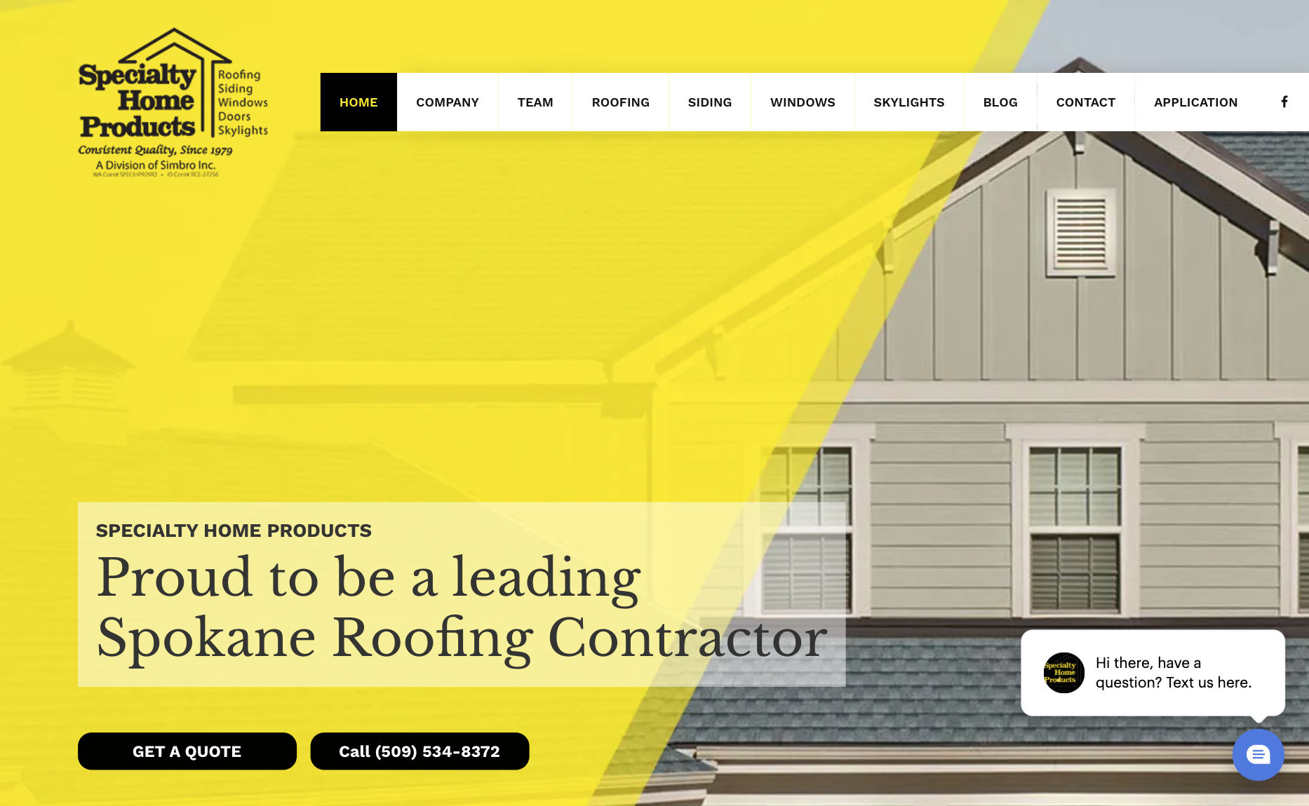 Specialty Home Products website screenshot