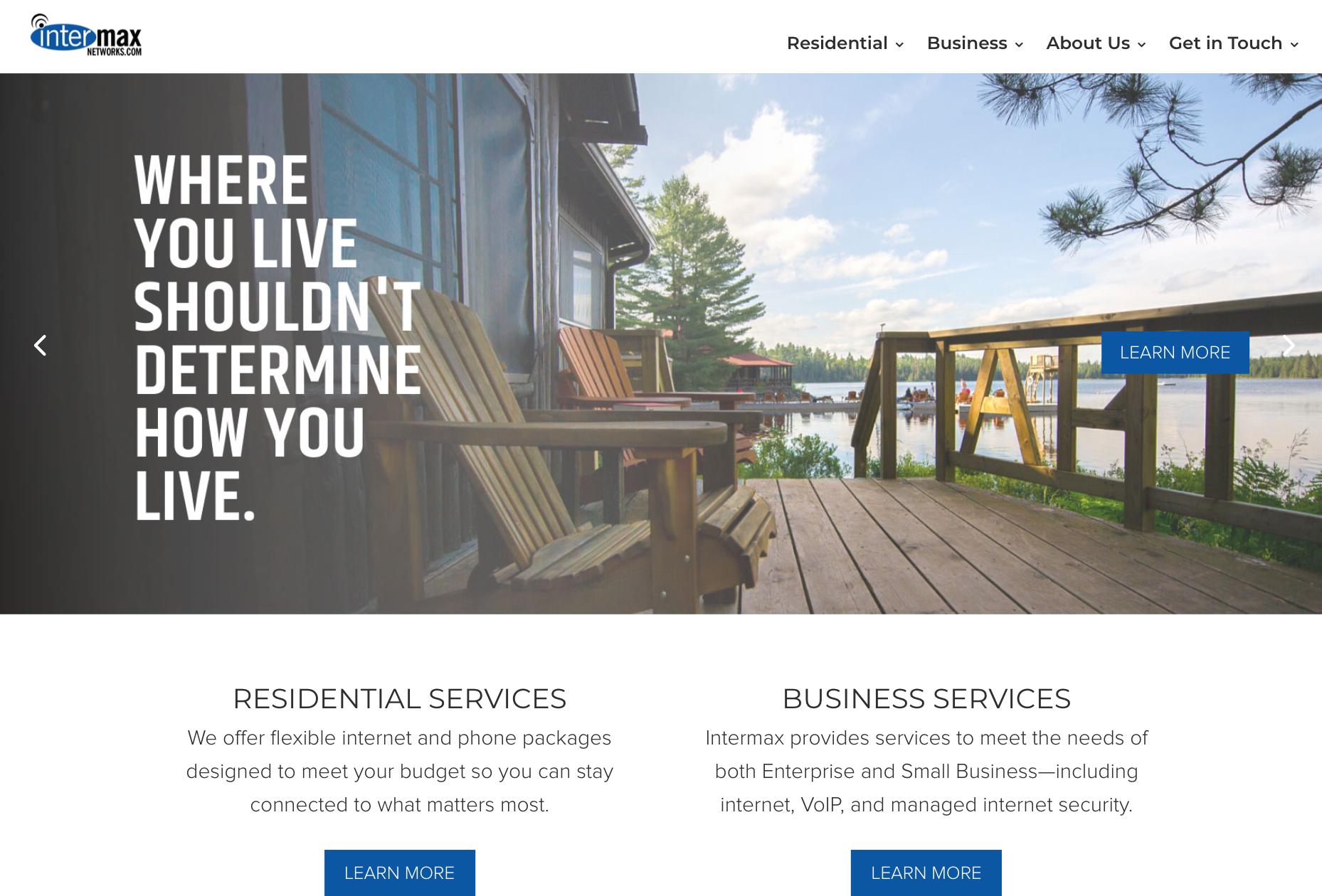 Intermax website screenshot