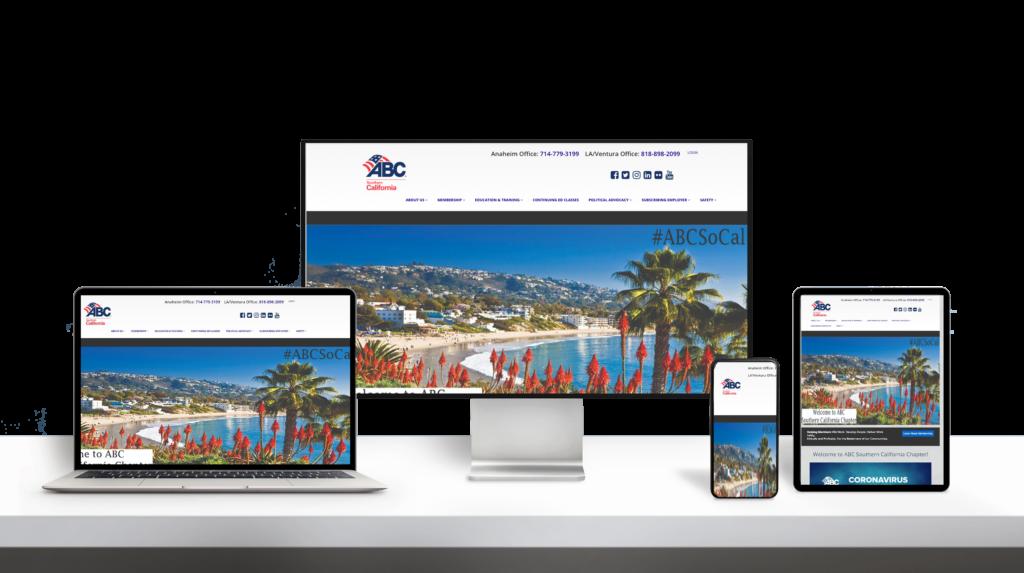 ABC website responsive design