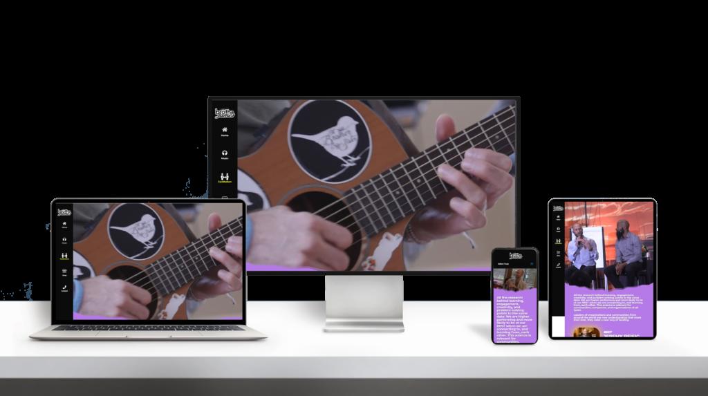 BrotherJames website responsive design