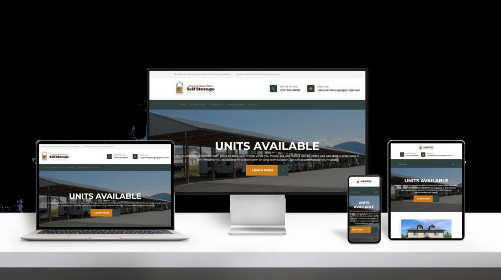 Self Storage website responsive design