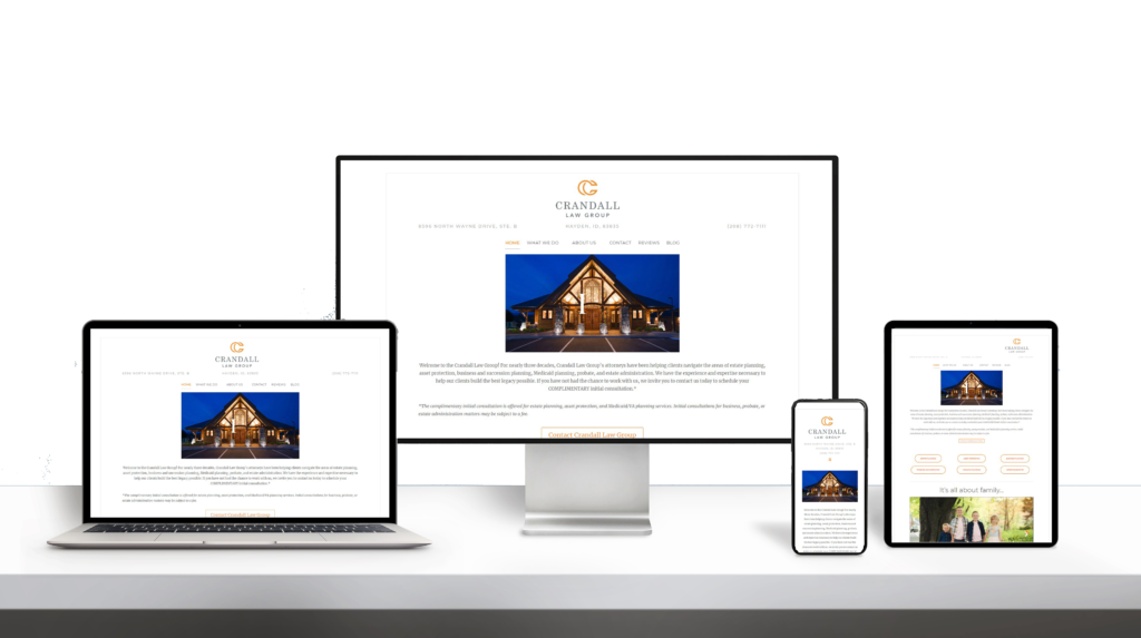Crandal website responsive design