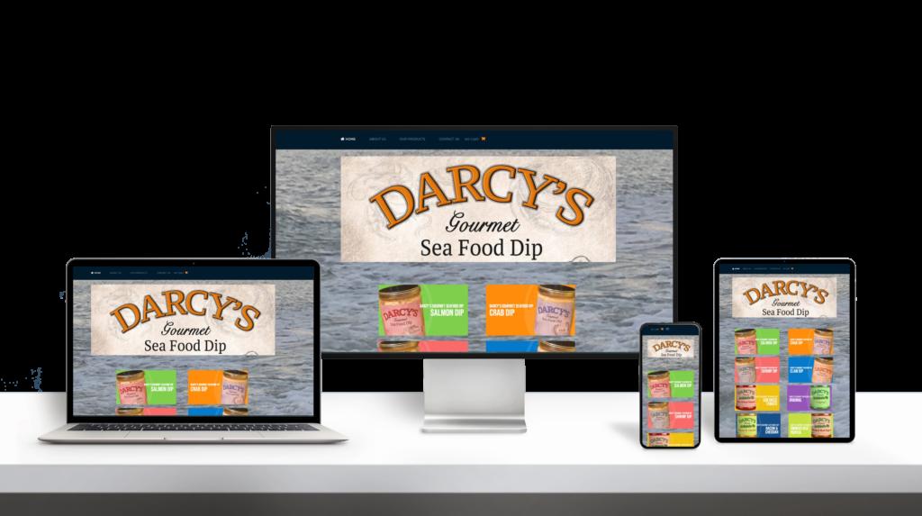 Darcy website responsive design