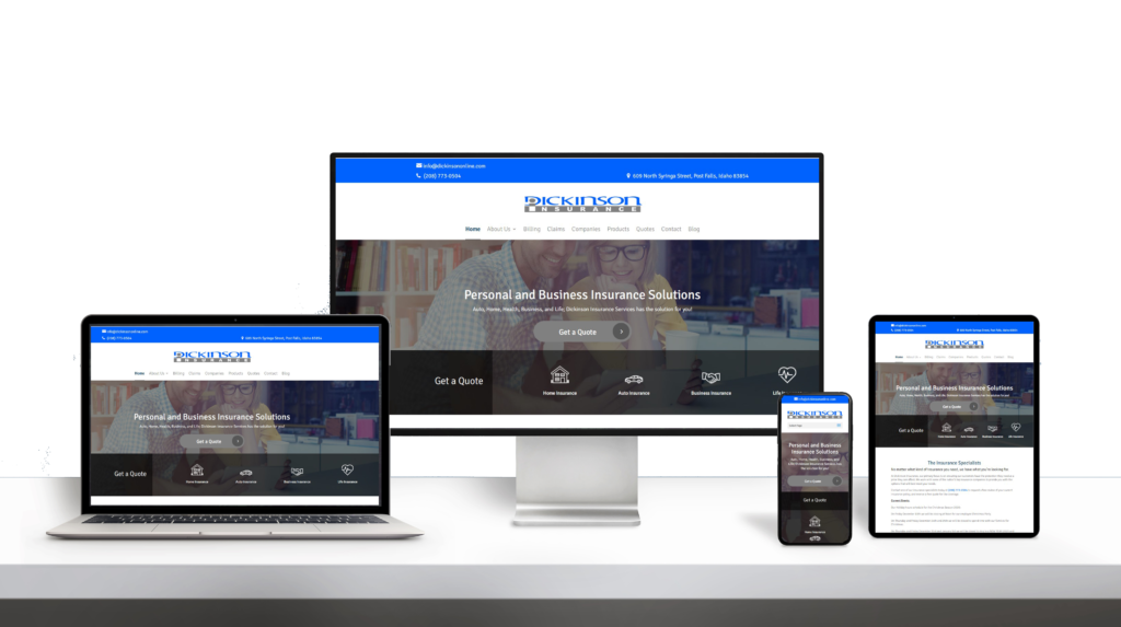 Dickinson Insurance website responsive design