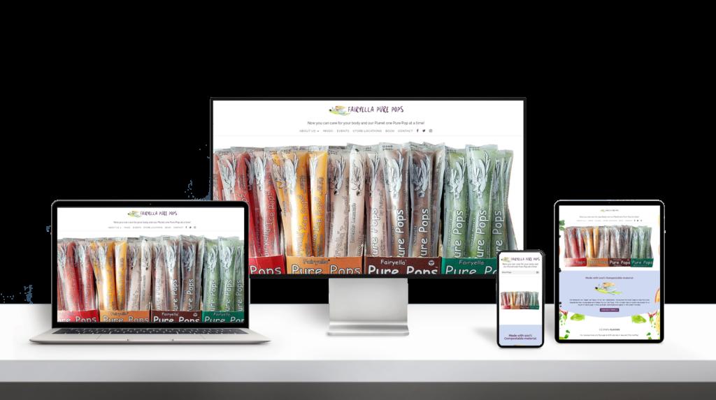 Fairyella icepops website responsive design