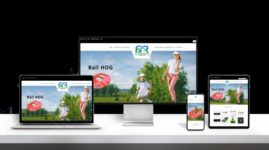 FarGolf website responsive design