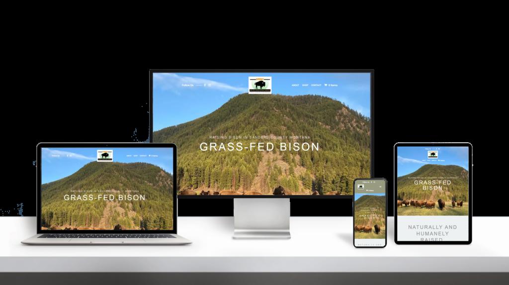HarlowRanch website responsive design