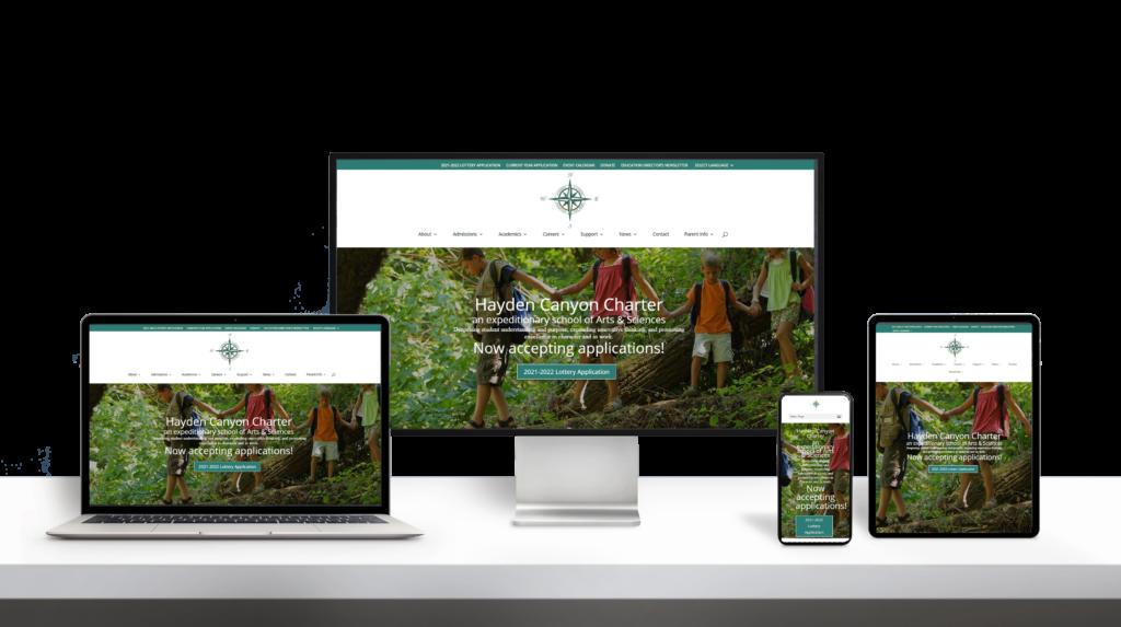 Hayden Charter Academy website responsive design