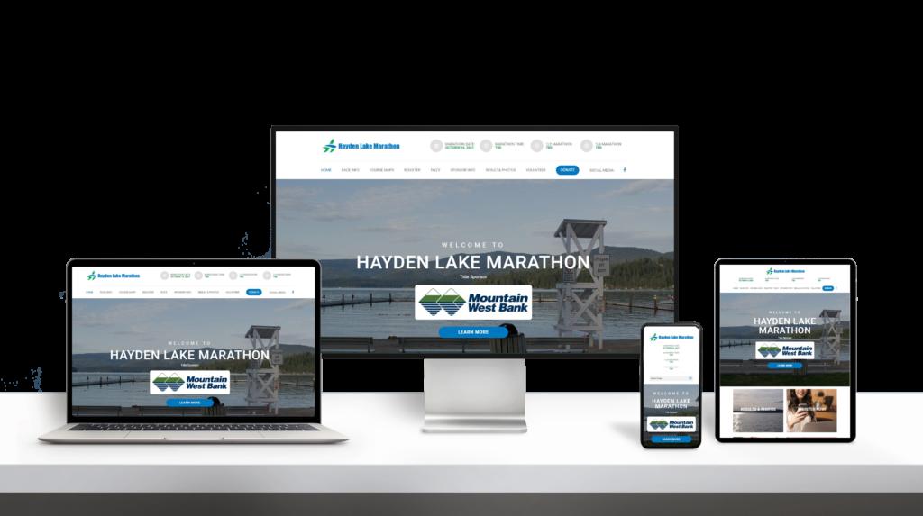 HaydenLakeMarathon website responsive design