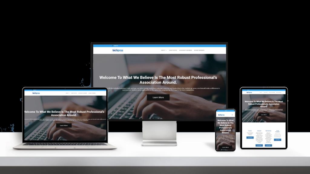 INWTechpros website responsive design