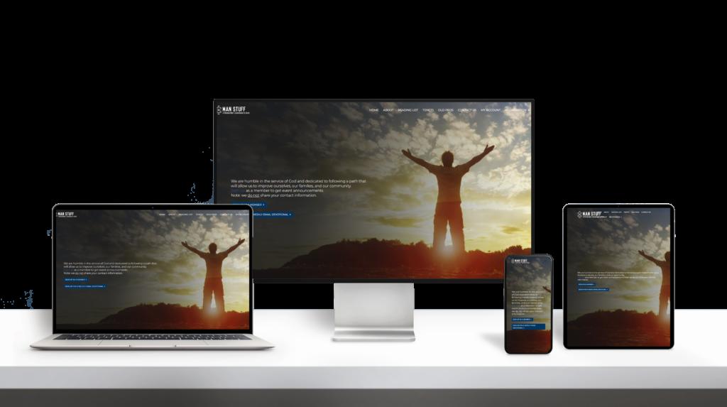 ManStuff website responsive design