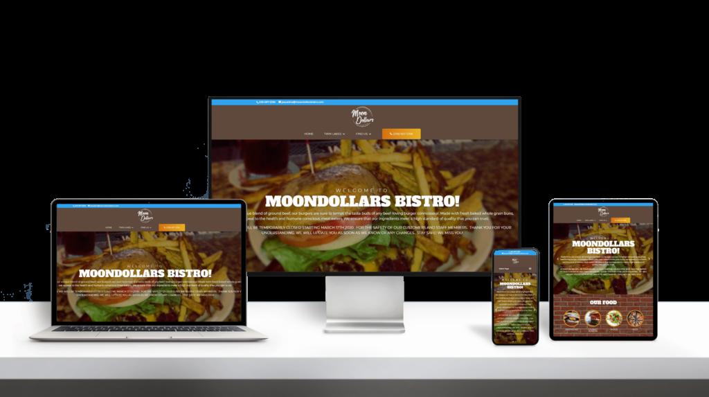 MoonDollar Bistro website responsive design