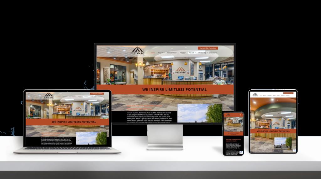 Peak website responsive design