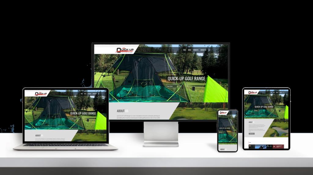 QuickUp Golf Net website responsive design