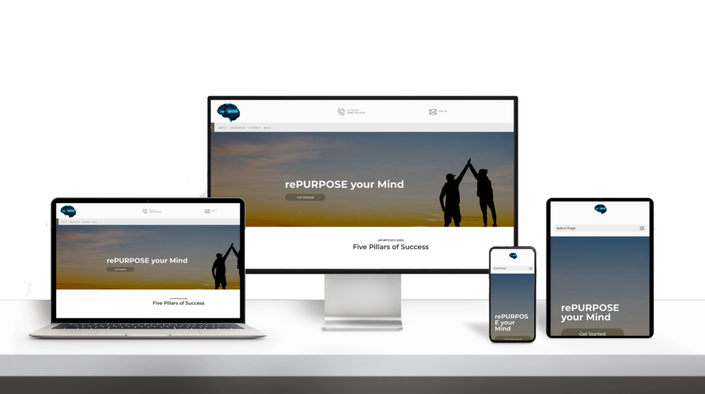RepurposedMind website responsive design