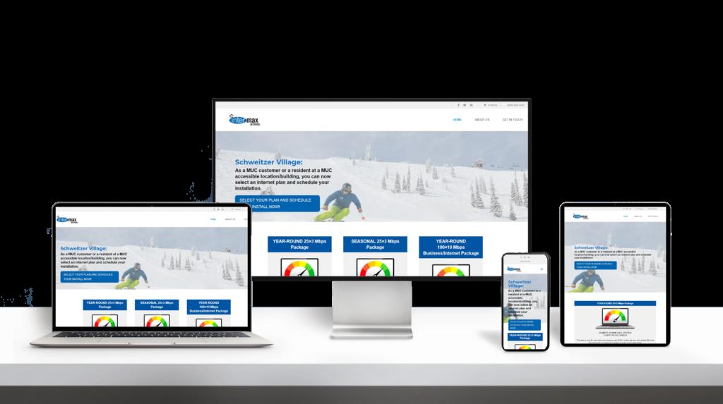 Schweitzer Internet website responsive design