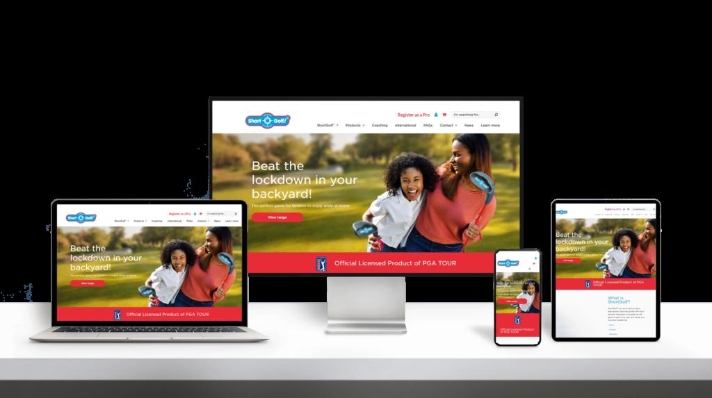 ShortGolf website responsive design