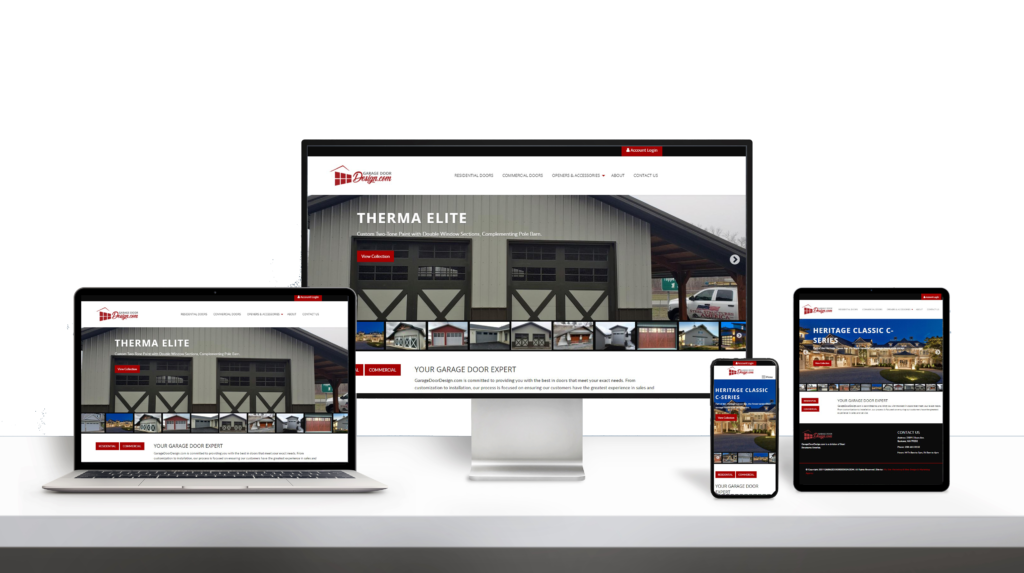 Garagedoordesign website responsive design