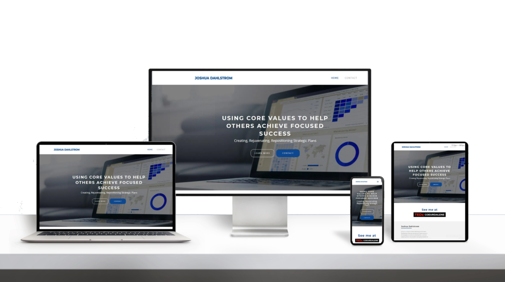 Josh Dahlstrom website responsive design