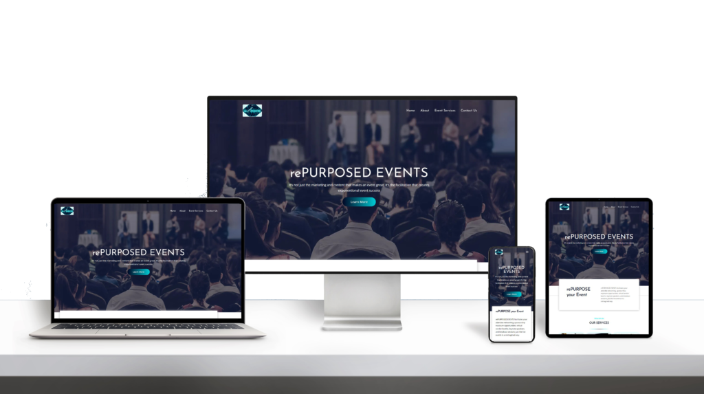 RepurposeEvents website responsive design