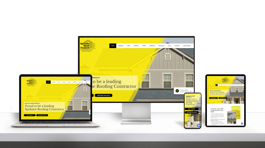 Specailty Home Products website responsive design
