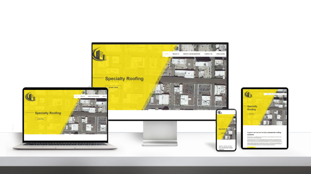 Speciality Home Roof website responsive design