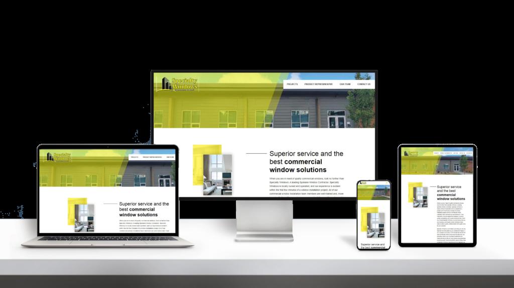 Specialty Window website responsive design