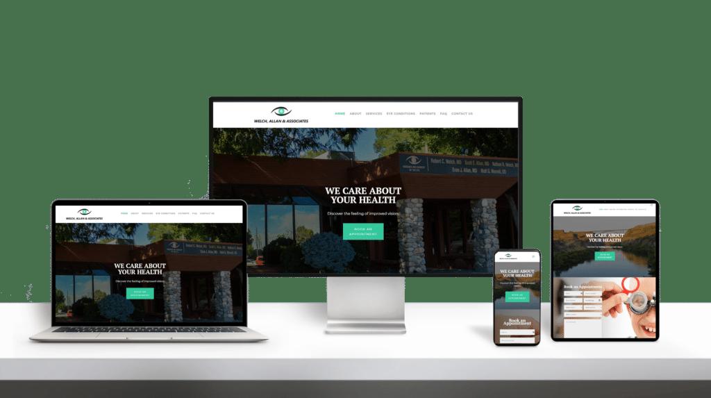 WelchAllan website responsive design