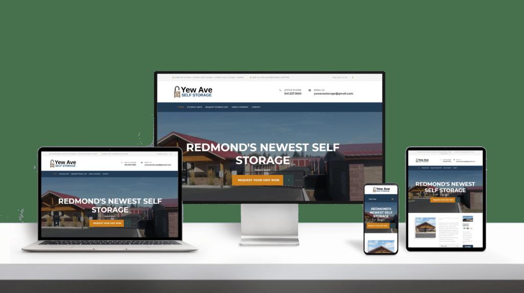 YewAve website responsive design